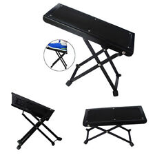 Guitar Foot Stool Black Folding Footstool Rest Acoustic Classical Practice UK