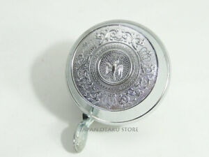 JAPAN VINTAGE RETRO BICYCLE BELL Silver color SWALLOW Mark CROWN New old stock