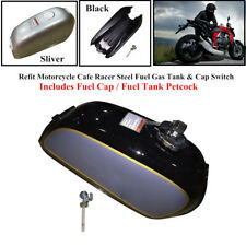 Steel Motorcycle Cafe Racer Fuel Gas Tank Part&Cap Switch Fit For Honda BENLY50S