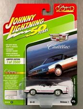 JOHNNY LIGHTNING 1992 CADILLAC ALLANTE' WHITE 50 YEARS CLASSIC GOLD FREE SHIP.