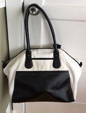Lululemon Vinyasa to Vino Bag Yoga Purse Tote Cream White Black Duffel Gym Case