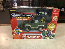 2003 Transformers Energon IRONHIDE RID GREEN VERSION #3 Voyager Class Figure NIB