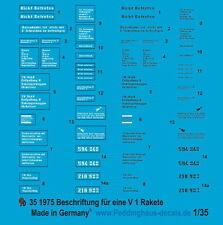 Peddinghaus 1975 1/35 V1 Decal