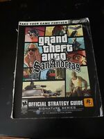 Brady Games Grand Theft Auto San Andreas Strategy Guide With Foldout Map