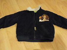 Size 3T Madagascar Hunter Green Corduroy Winter Coat Jacket Alex the Lion EUC