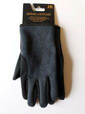 Stewart of Scotland Sport Stretch Gloves Fleece Lined Mens Small / Medium Grey