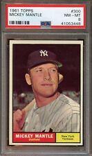 1961 Topps MICKEY MANTLE #300 PSA 8 Nm-Mt Baseball Card
