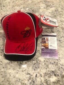 BUDWEISER DALE EARNHARDT JR SIGNED AUTOGRAPHED CAP NEW HAT JSA COA NASCAR