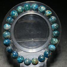 8.9mm Natural Gem quality Light Blue Apatite Crystal Round Beads Bracelet