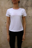 Lonsdale LJeans Womens Stretch Crew Neck T-Shirt Short Sleeved White Top XL