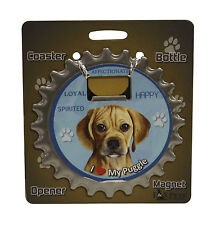 Puggle dog coaster magnet bottle opener Bottle Ninjas magnetic