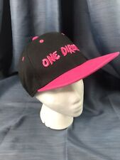 One Direction Hot Pink and Black Baseball Hat ONE SIZE