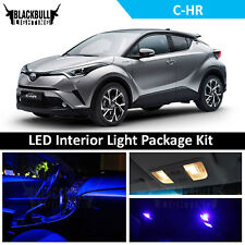 Blue LED Interior Light Package Replacement Kit for 2018 Toyota C-HR 10 Bulbs