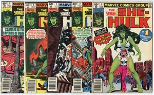 She-Hulk #1 - 25  Complete Set  avg. VF/NM 9.0  Marvel  1980  No Reserve