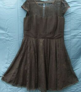 CITY CHIC DRESS SIZE S BLACK LACE TUILLE UNDERLAY