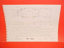 1972 PONTIAC GRAND PRIX CATALINA GRANDVILLE CONVERTIBLE FRAME DIMENSION CHART