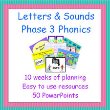 Phase 3 Letters and Sounds Planning & Resources on CD, Phonics, Teaching, EYFS