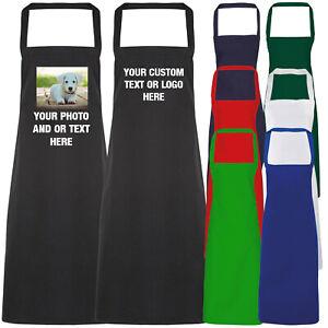 Personalised Apron Baking Chef Custom Printed Text Photo Business Logo