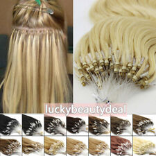 """Loop Micro Ring Beads Tip Real Remy Human Hair Extensions Highlight 0.5g/s16-26"""""""