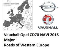Vauxhall  Opel CD70 Navi maps Major Roads Europe Disc Germany Italy France Spain