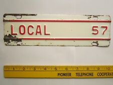 LICENSE PLATE Truck Tag TOPPER 1957 KANSAS Add-On Tab LOCAL [Z289D17]