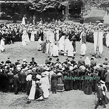 Evan Rees Druids Proclaiming Eisteddfod Temple Gardens London 1908 Photo Article