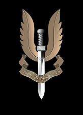 SAS British Army Special Air Service Forces Who Dares Wins Emblen 7x5 Inch Print