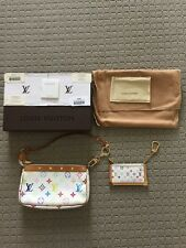 LOUIS VUITTON POCHETTE CLES COIN POUCH ANOKRE MULTICOLOUR MURAKAMI RECEIPT USED