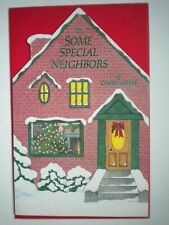 "Carlton ~""TO SOME SPECIAL NEIGHBORS AT CHRISTMASTIME"" GREETING CARD+RED ENVELOPE"