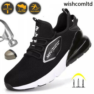 UK Safety Shoes Mens Women Lightweight Steel Toe Work Hiking Protective Sneakers