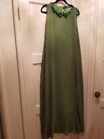 green maxi dress chiffon size small