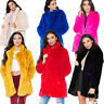 Women Ladies Winter Warm Faux Fur Coats Long Sleeve Casual Fluffy Jacket Coats