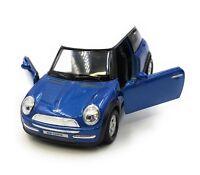 Modellauto Mini Cooper Blau Auto 1:34-39 (lizensiert)
