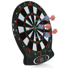 "Pro Electronic Soft Tip Dart Board Set 15"" Target Game Room LCD Display + 6 Dart"