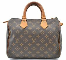 Authentic Louis Vuitton Monogram Speedy 25 Hand Bag M41528 LV A4788
