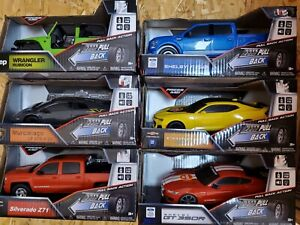 Gear Maz Yellow Light/Sound Pull Back Action cars/trucks (YOU CHOOSE)