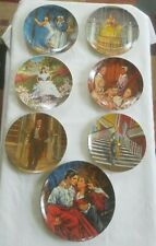 "Lot of 7 Bradford Exchange Collector Plates ""Gone With The Wind"" w/ Coa & boxes"