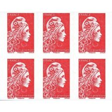 CARNET MARIANNE ROUGE D'YSEULT 12 TIMBRES