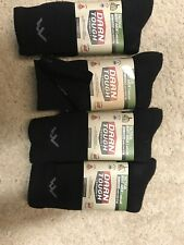 Darn Tough Tactical Boot Cushion Sock Black LARGE Unisex, 4 Pair