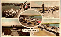 Weymouth England Multiview Vintage Postcard AA-003