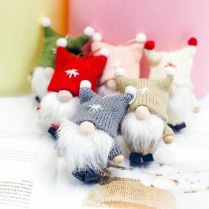 Party Decorations Plush Gnome Doll Christmas Ornament Pendant Xmas Tree Hanging