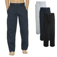 Mens Open Hem Bottoms Track Sweat Pants Casual Joggers Jogging Cotton Trousers