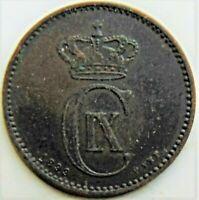 1899 DENMARK, bronze 2 Ore grading Good VERY FINE.