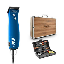 Wahl KM2 Dog / Pet Clipper Paw Print with Wooden Case and Tool Kit