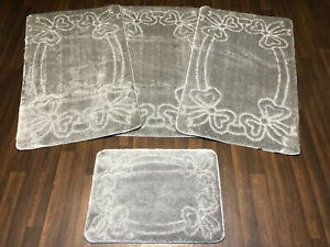 ROMANY GYPSY WASHABLES LARGE SIZE CHEAPEST AROUND FULL SET OF 4 GREY MATS/RUGS