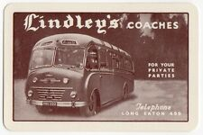 Playing Cards 1 Single Swap Card Old Vintage LINDLEY'S COACHES Bus Coach Advert