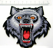 HOWLING LONE WOLF DESIGN BIKER PATCH BADGE SEW ON OR IRON GOOD DETAIL
