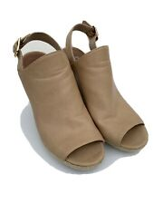 STEVE MADDEN Corizon Beige Peep Toe Rope Wedge Sandals Espadrille Size 9.5 B