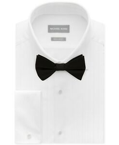 MICHAEL KORS Mens Regular Fit French Cuff Formal Dress Shirt White 15 32/33 $150