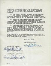 ELIZABETH TAYLOR SINGNED CONTRACT WHEN SHE WAS 17 ALSO SIGNED MOM MGM LOEWS RARE